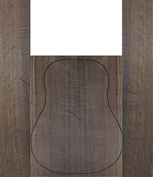 Acoustic Guitar backs and Sides. fumed oak b&s