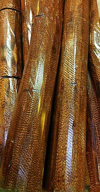 Factory details. snakewood logs